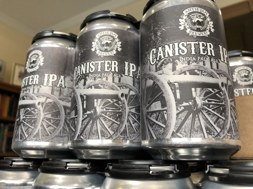 A six pack of the Canister IPA