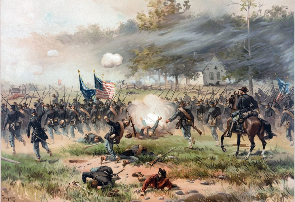 Historical Painting of the Battle of Antietam