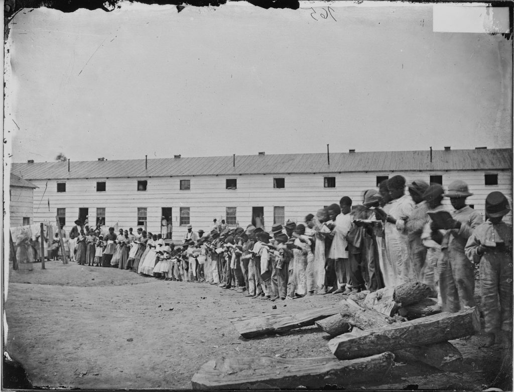 Wartime African American school near Washington. Courtesy of the National Archives