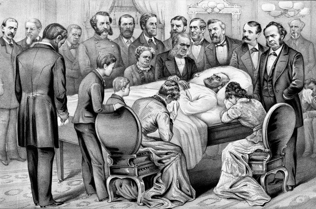 President James Garfield on his deathbed.