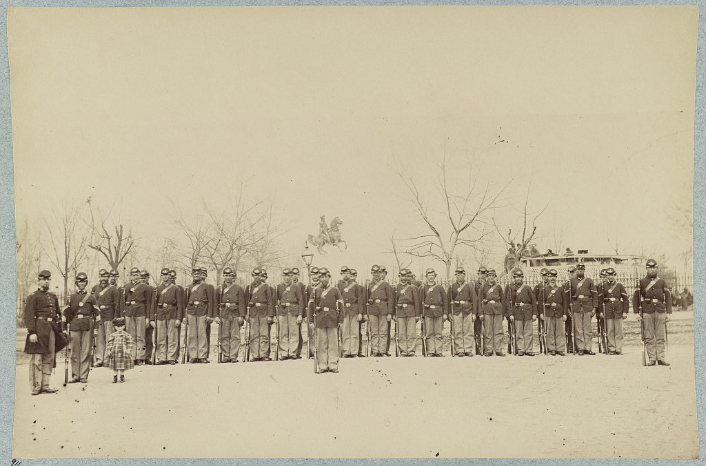 Company H, 10th Veteran Reserve Corps in April 1865 Courtesy of the Library of Congress