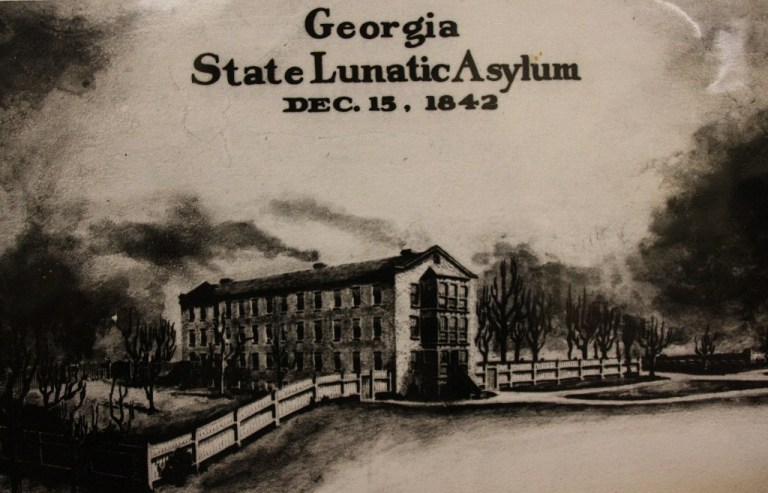 Georgia State Lunatic Asylum, now Central State Hospital, where many Civil War soldiers and veterans were treated for mental illness.