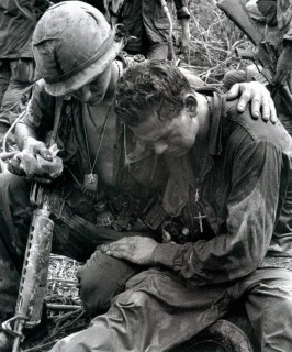 A Vietnam War soldier suffering emotional distress.
