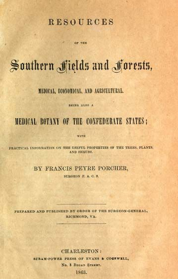 Title page of Resources of the Southern Fields and Forests