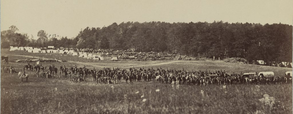 Battery A 4th U.S. Artillery photographed by Alexander Gardner on September 22, 1863, near Culpeper, VA Courtesy of the Library of Congress