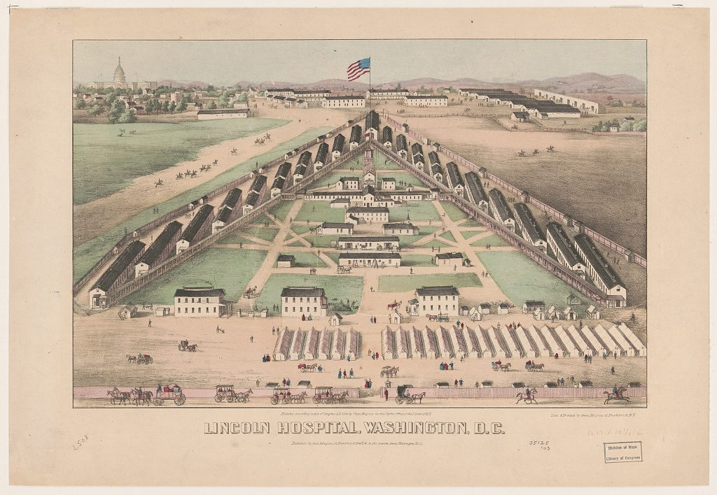Lincoln Hospital, Washington, DC. Courtesy of the Library of Congress