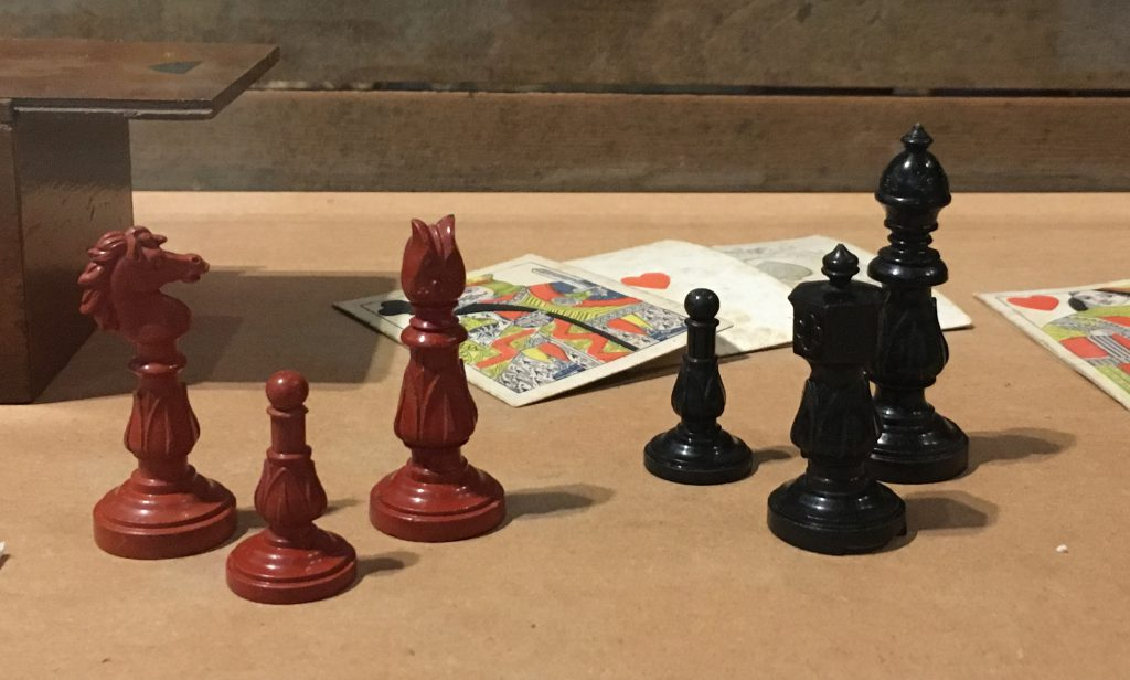 William Child's chess set on display in the museum