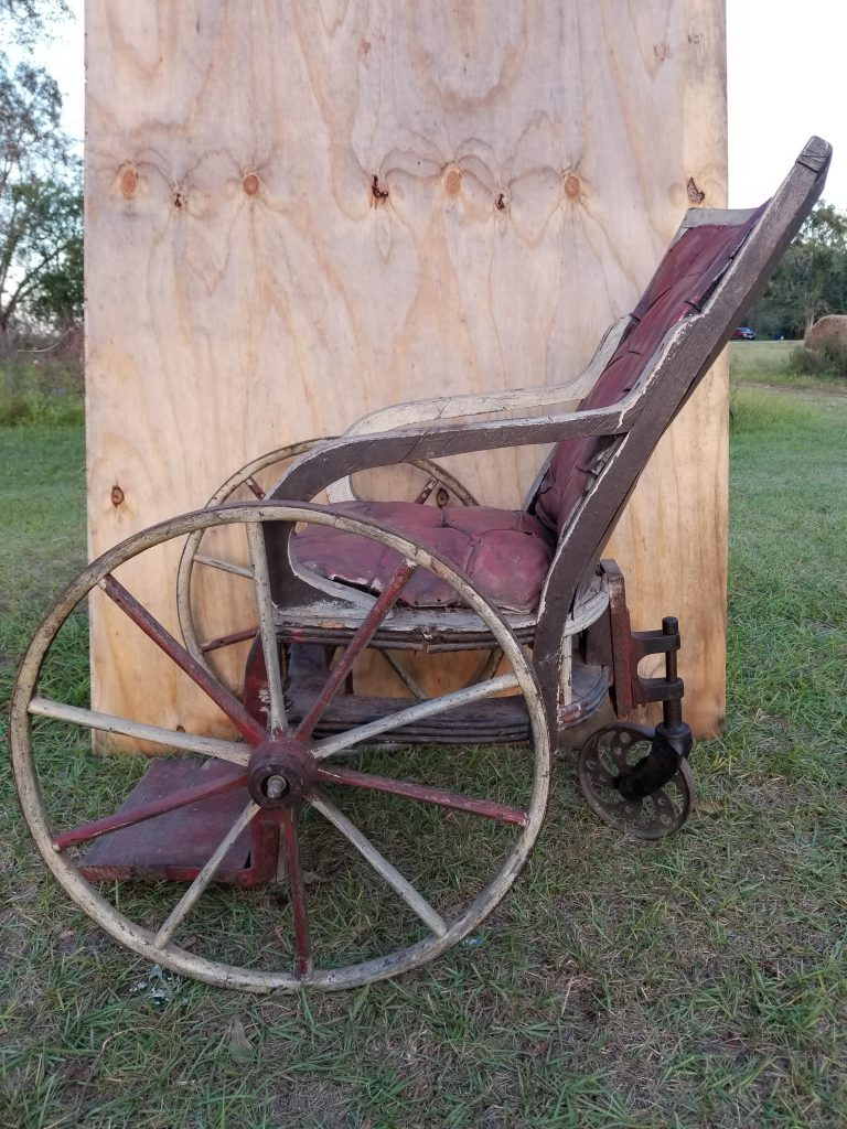 Civil War-era Confederate wheelchair. Courtesy of Jason White and Mike Shuler