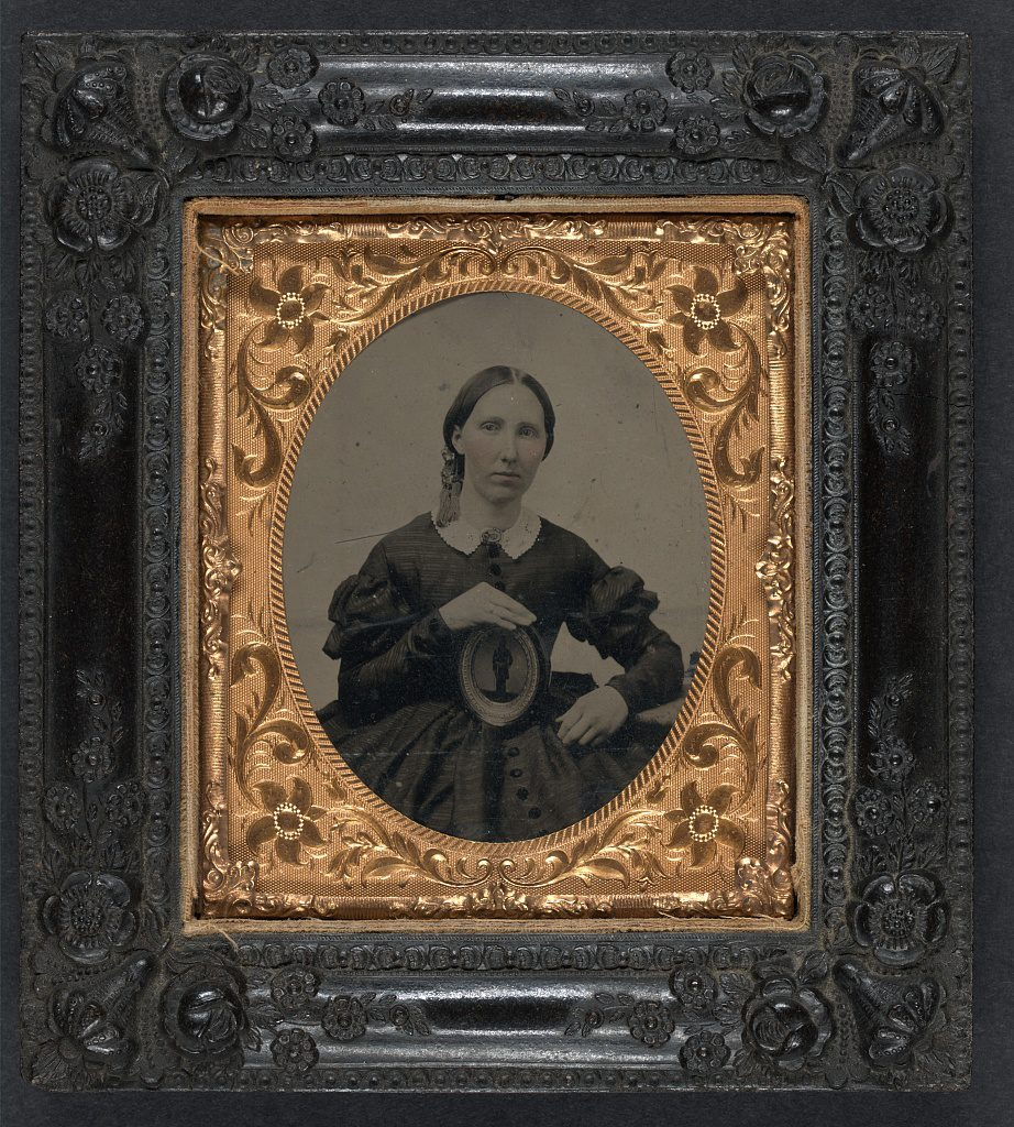 Unidentified Civil War widow Courtesy of the Library of Congress