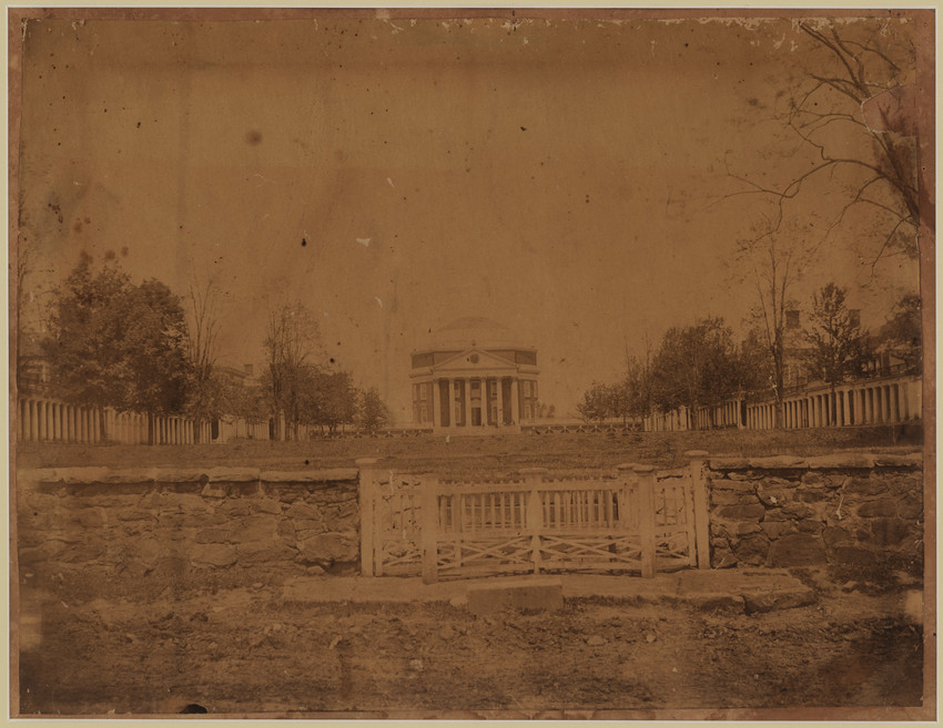 The University of Virginia's famed Rotunda building c. 1868. Courtesy of the University of Virginia Special Collections