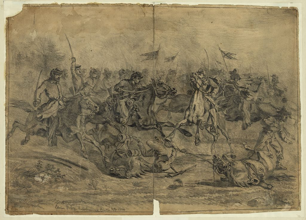 Edwin Forbes sketch of the Battle of Brandy Station. Courtesy of the Library of Congress