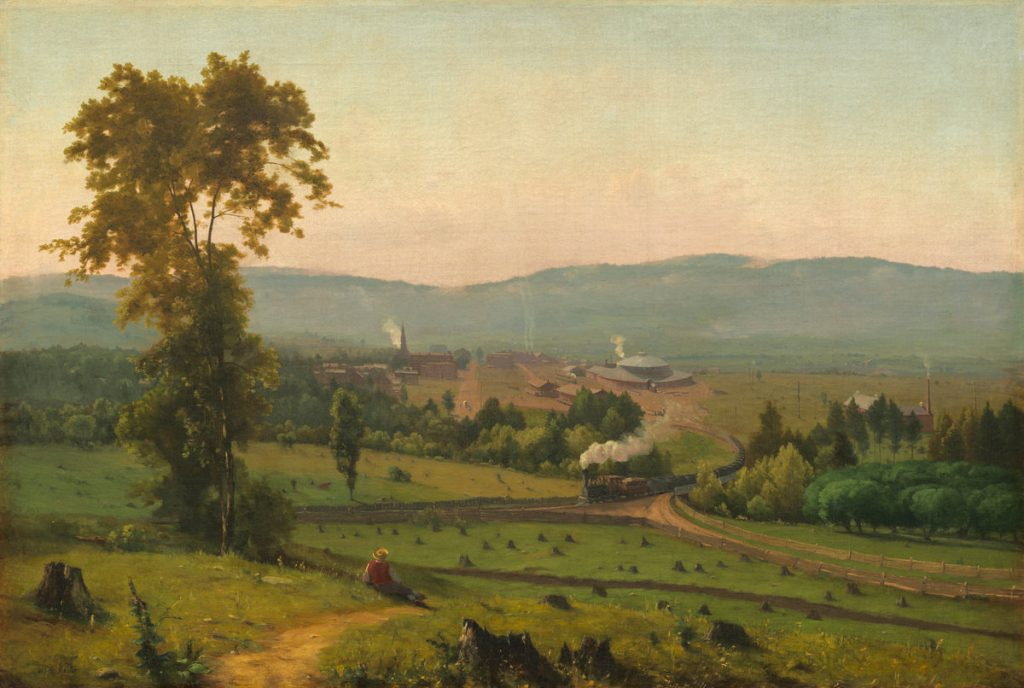 George Inness, The Lackawanna Valley, depicting Scranton the year Drew moved there. Courtesy of the National Gallery of Art