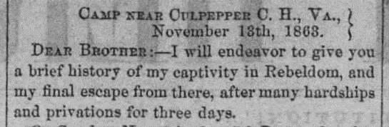 A selection from Drew's story printed in The Wayne County Herald, November 26, 1863.