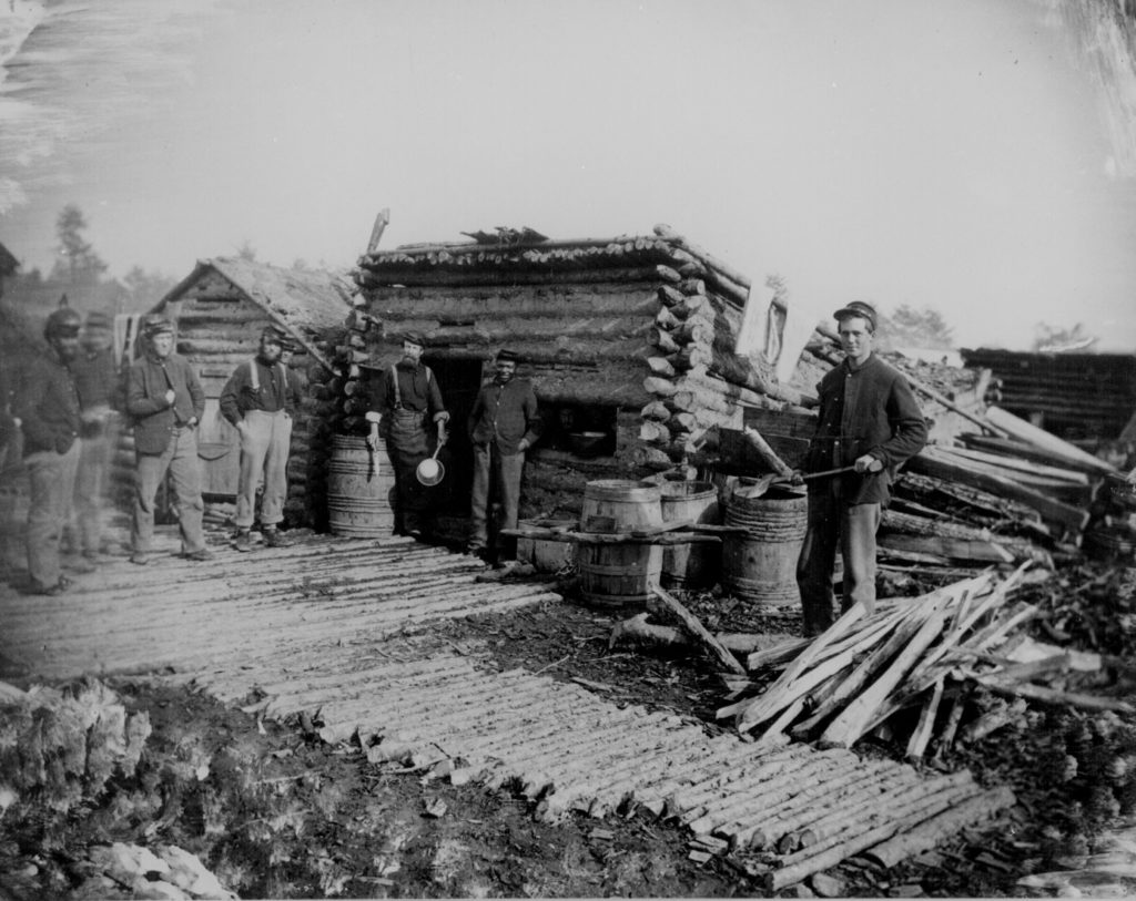 Civil War camp kitchen. Courtesy of the Library of Congress