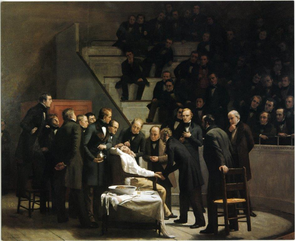 First Operation Under Ether, Robert C. Hinckley. Boston Medical Library in the Francis A. Countway Library of Medicine