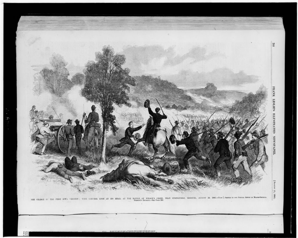 Sketch of the Battle of Wilson's Creek. Courtesy of the Library of Congress