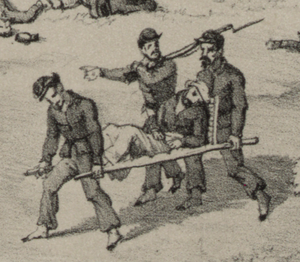 "Detail from ""The battle of South Mountain, MD. Sunday, Sept. 14, 1862,"" Endicott & Co, June 1864, Library of Congress."