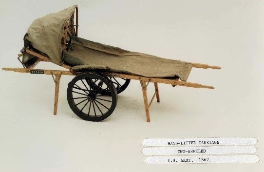 Scale model of a Tompkins Stretcher from the National Museum of Health and Medicine