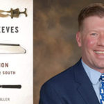 "Dr. Brian C Miller with his book ""Empty Sleeves."""