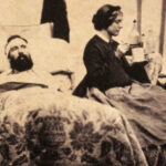 Nurse Anna Bell tends to Civil War Soldiers. Courtesy of Wiki Commons