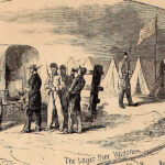 Detail of beer being distributed from the June 22, 1861 edition of Harpers Weekly.