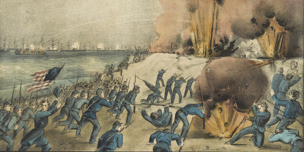 Storming of Fort Fisher. Courtesy of the Library of Congress